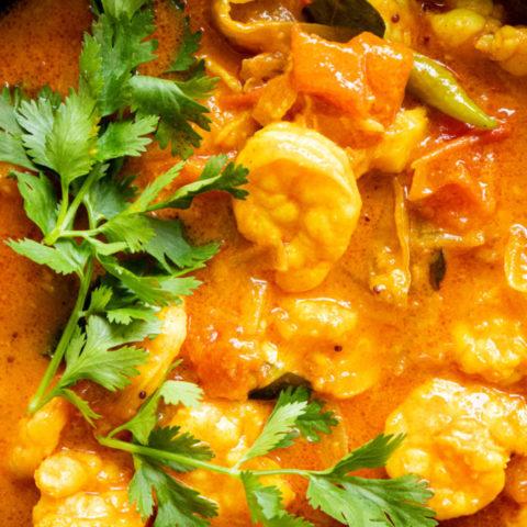 Malabar shrimp curry