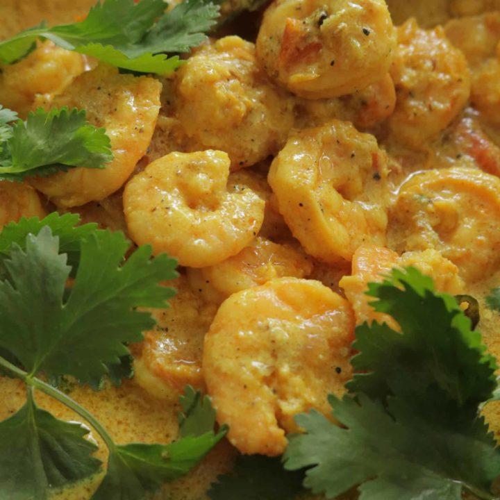 prawn caldine cooked in coconut milk