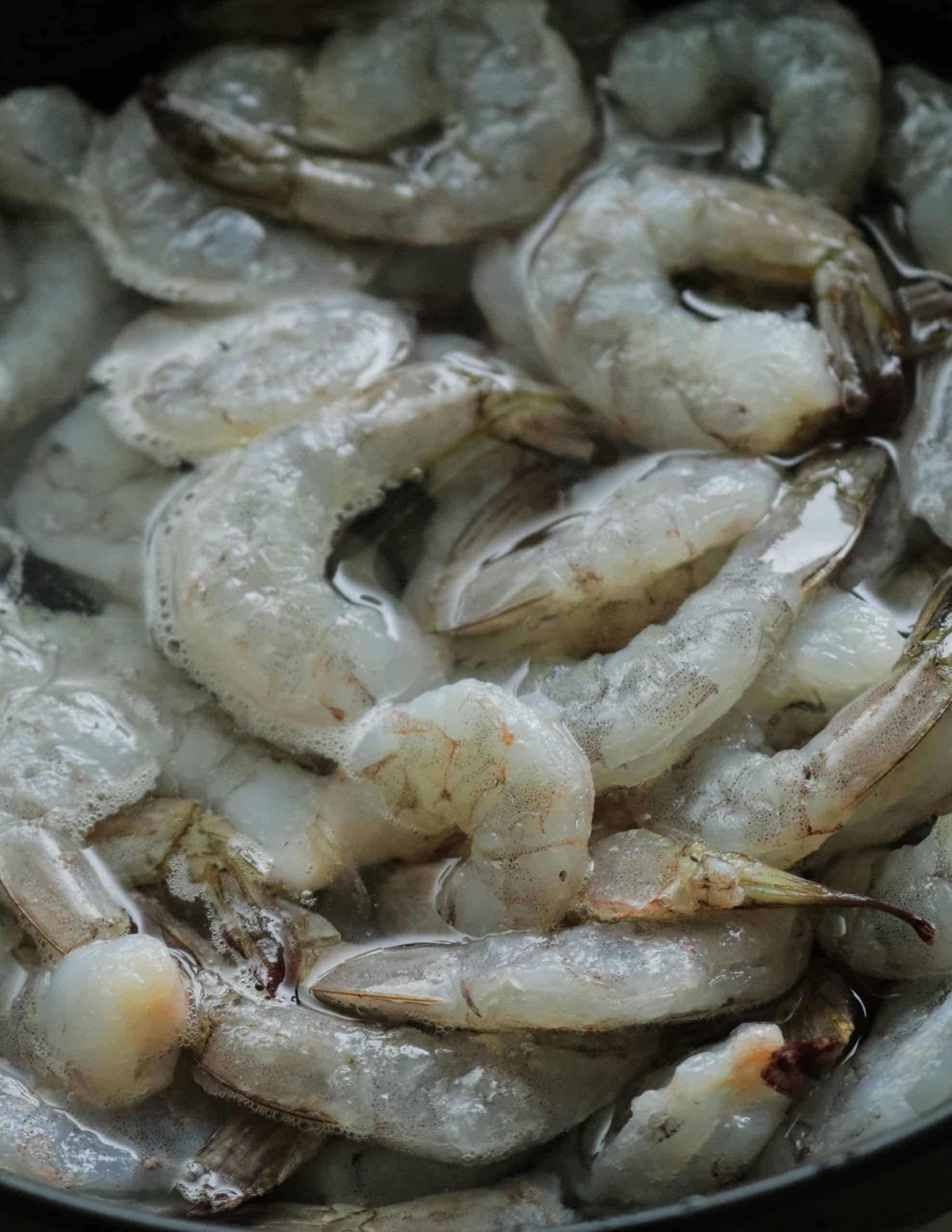 how to defrost/thaw shrimp