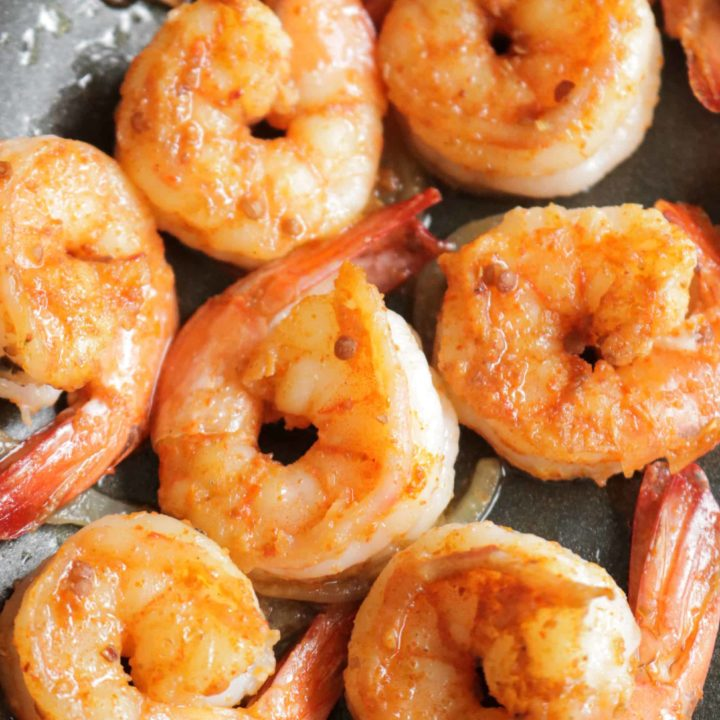 sauteed shrimp cooked in 10 minutes.